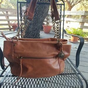 The Sak tan leather handbag